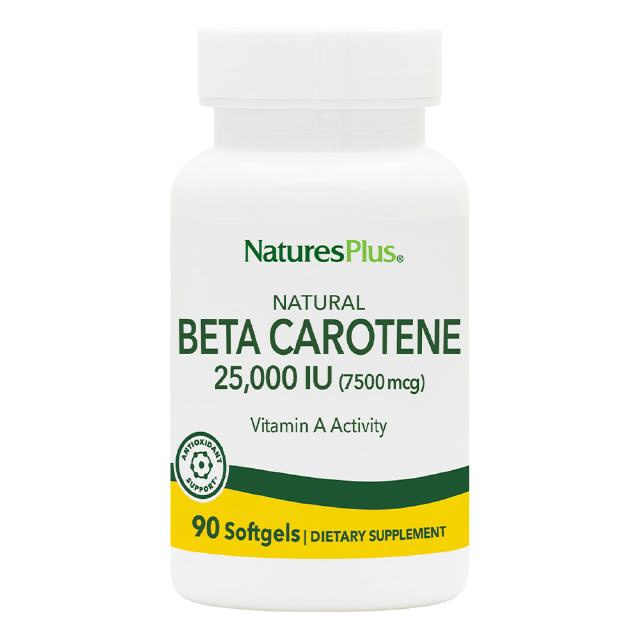 Natural Beta Carotene 90 Softgels Natures Plus
