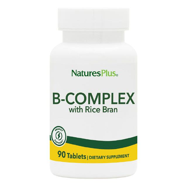 B-Complex with Rice bran 90 Tabletten Natures Plus
