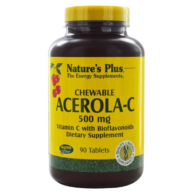 Acerola-C 500 mg Vitamin C 90 Tabl. Natures Plus