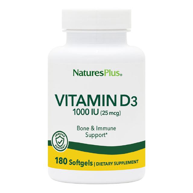 Vitamin D3 400 IE  180 Softgels      Natures Plus