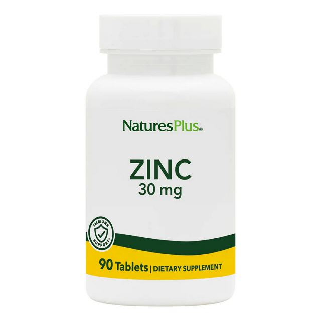 Zinc 30 mg  90 Tabletten  Natures Plus