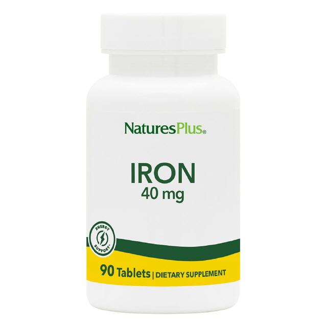 Eisen (Iron) 40 mg 90 Tabletten Natures Plus