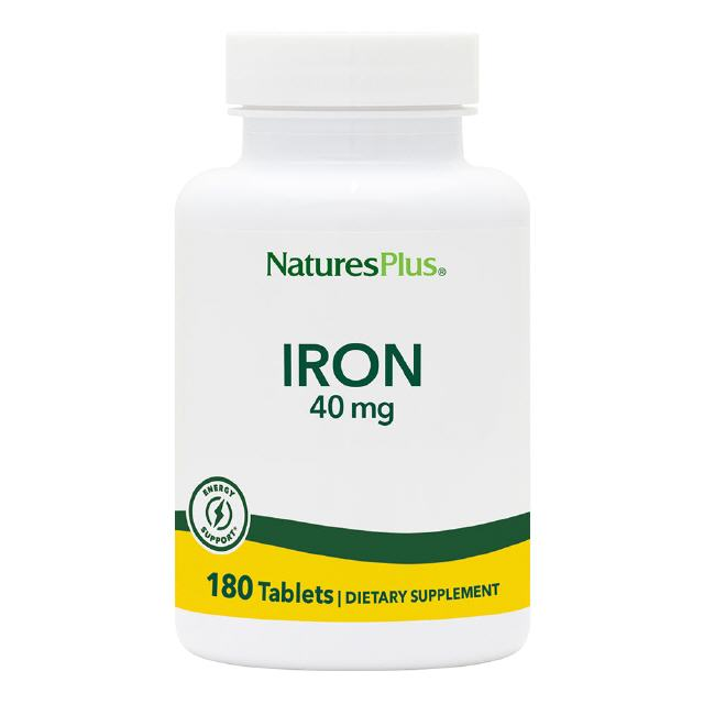 Eisen (Iron) 40 mg 180 Tabletten Natures Plus