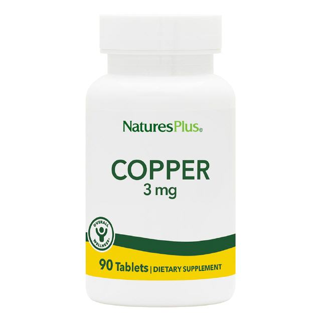 Kupfer (Copper) 3 mg 90 Tabletten Natures Plus