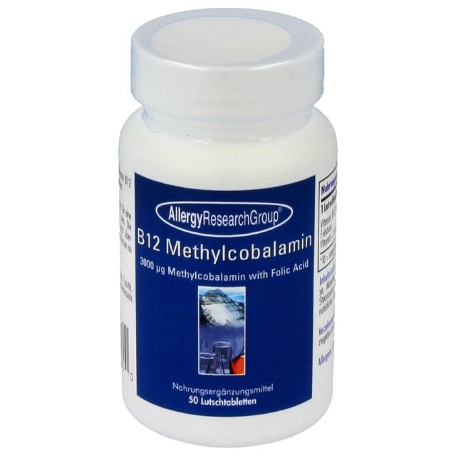 B12 Methylcobalamin 3000 µg 50 veg.Lutschtabl. Allergy Research Group