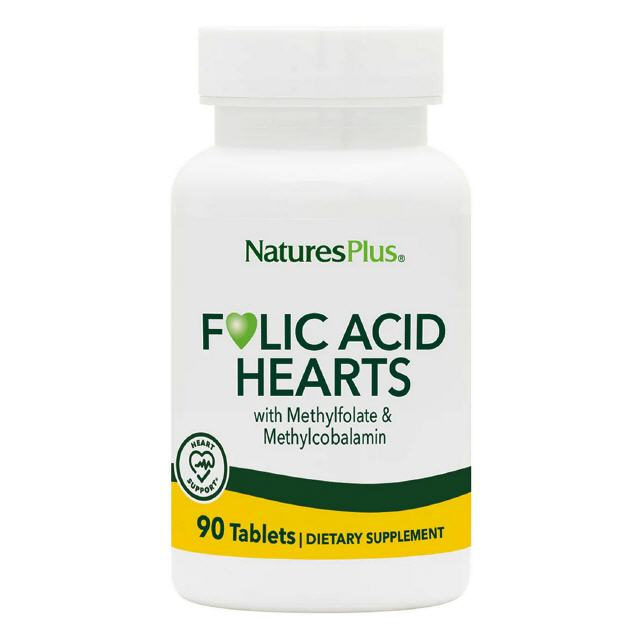 Folic Acid Hearts 90 Tabletten Natures Plus